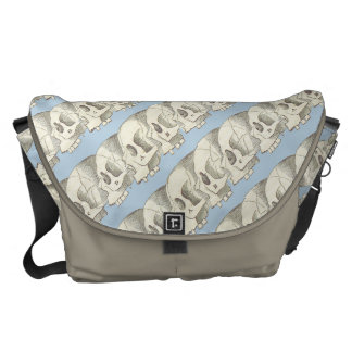 Row of Skulls Courier Bags