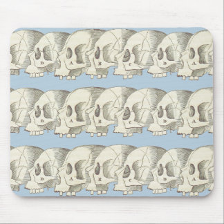 Row of Skulls Mouse Pad