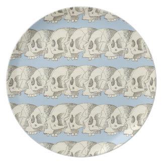 Row of Skulls Party Plates