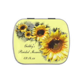 Row of Sunflowers Bridal Shower Favor Candy Tin