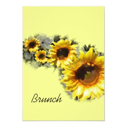 "Row of Sunflowers Post Wedding Brunch Invitation 5"" X 7"" Invitation Card"