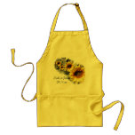 Row of Sunflowers Wedding Apron Standard Apron