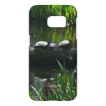 Row of Turtles Green Nature Photo Samsung Galaxy S7 Case
