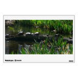 Row of Turtles Green Nature Photo Wall Sticker