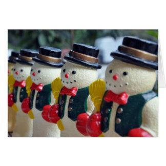 Row of Vintage Snowmen Card