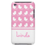 row of white ducks in pink iPod Touch Case-Mate iPod Touch Cases