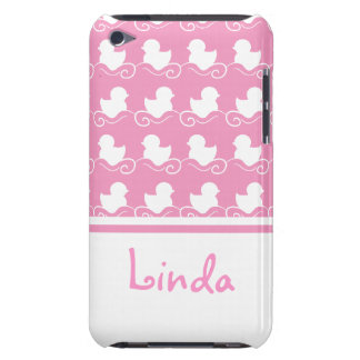 row of white ducks in pink iPod Touch Case-Mate