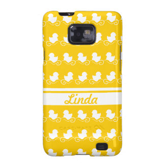 row of white ducks in yellow Samsung Galaxy Case Samsung Galaxy S2 Cases