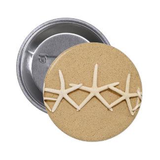 Row of White Starfish Pinback Button