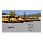 row of yellow school buses business cards