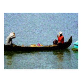 'Row' Postcard