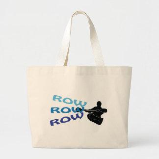 Row, Row, Row Large Tote Bag