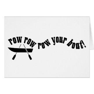 Row Row Row Your Boat! Card