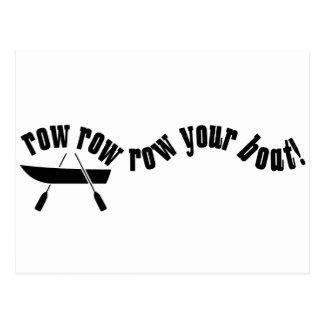 Row Row Row Your Boat! Postcard