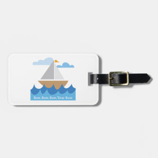 Row, Row, Row, Your Boat Tags For Bags