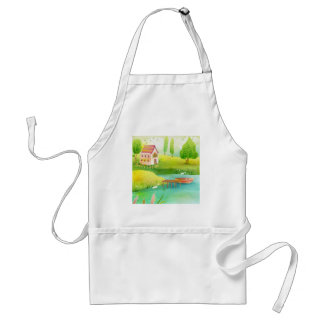 row row your boat adult apron