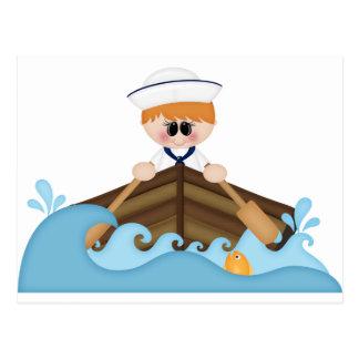 Row,row your boat-sailor postcard