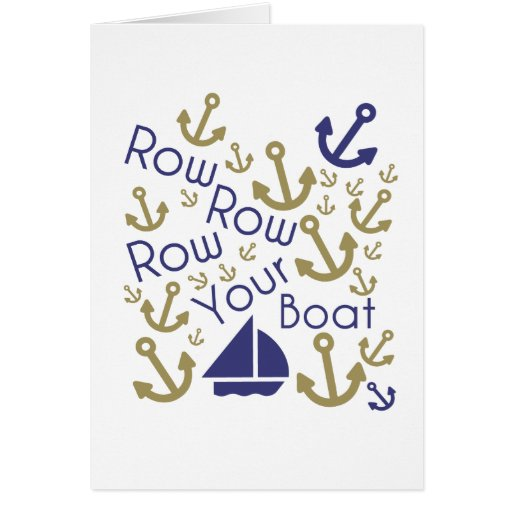 Row Row Your Note Greeting Card
