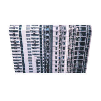 Row Themed, Hundreds Of Apartments In A Skyscraper Canvas Print