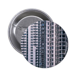 Row Themed, Hundreds Of Apartments In A Skyscraper Pinback Button