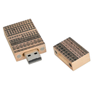 Row Themed, Hundreds Of Apartments In A Skyscraper Wood USB Flash Drive