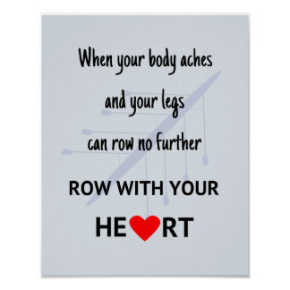 Row with your heart sport poster