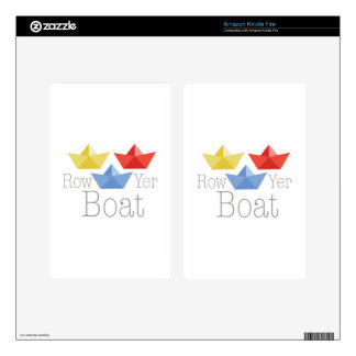 Row Yer Boat Kindle Fire Skin