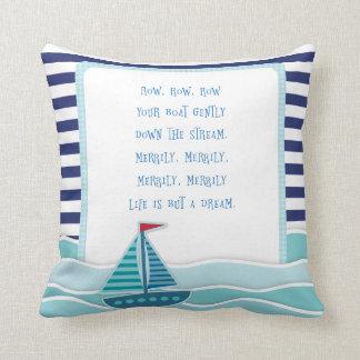 Row Your Boat Nursery Rhyme Pillow