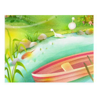 row your boat postcard