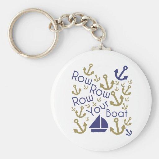 Row Your Keys Keychain