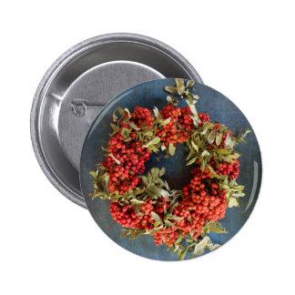 Rowan berries button