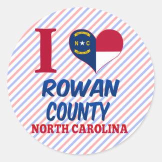 Rowan County North Carolina Round Stickers