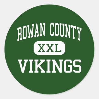 Rowan County - Vikings - Senior - Morehead Round Sticker