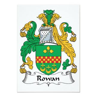 Rowan Family Crest Custom Announcement