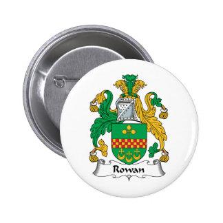 Rowan Family Crest Pinback Button