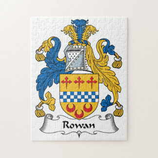 Rowan Family Crest Puzzles
