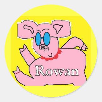 Rowan piggy stickers