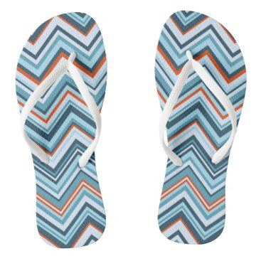 Beach Themed Rowanberry Winter Chevron Flip Flops