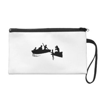 Rowboat and Dock Silhouette Wristlets