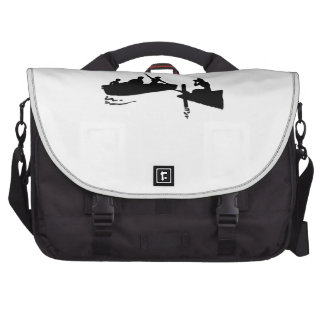 Rowboat and Dock Silhouette Computer Bag