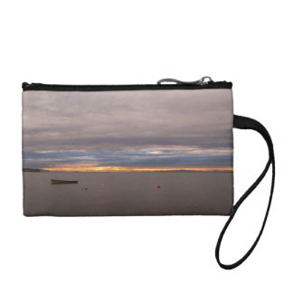 Rowboat At Sunset Coin Purse