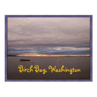 Rowboat At Sunset Postcard