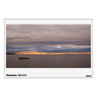 Rowboat at Sunset Wall Sticker