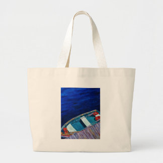 Rowboat at The Dock Canvas Bags