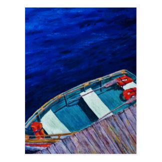 Rowboat at The Dock Postcard