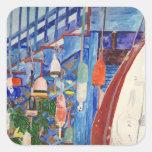 Rowboat & Buoys Sticker
