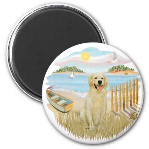 Rowboat - Golden 6 2 Inch Round Magnet
