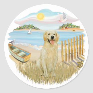 Rowboat - Golden 6 Classic Round Sticker