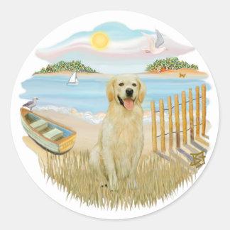 Rowboat - Golden 6 Classic Round Sticker