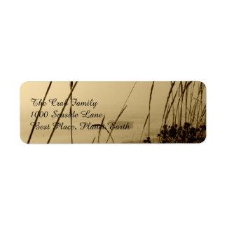 Rowboat In Fog Label